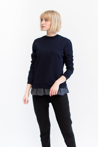 Clu Polka Dot Ruffled Sweatshirt