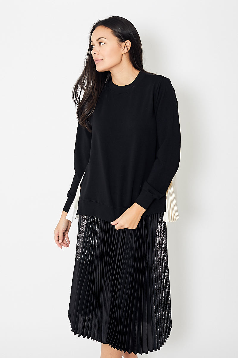 Clu Pullover with Paneled Pleating