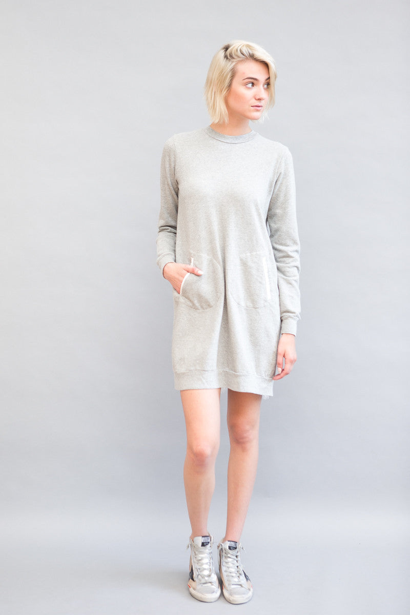 Clu Sweatshirt Dress With Contrast Back Panel - grethen house