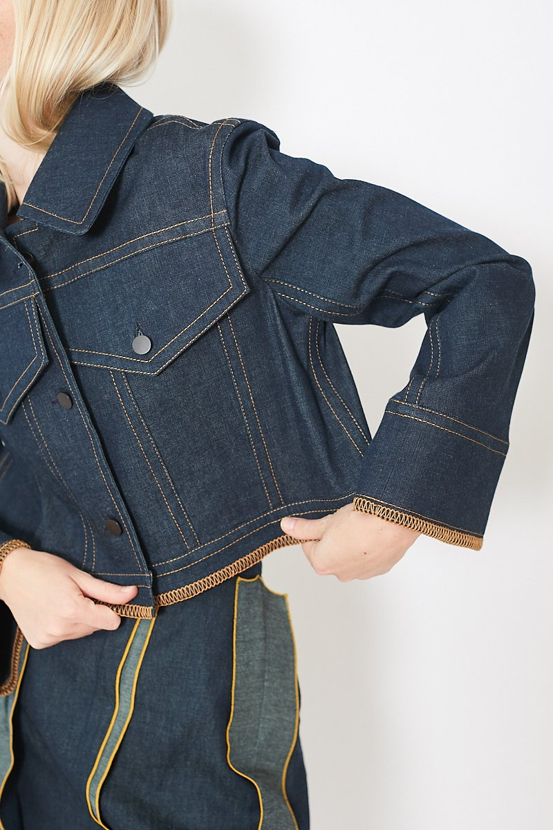 Colovos Denim Loopstitch Jacket