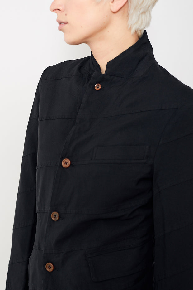 Comme des Garçons Oxford Garment Treated Diagonal Seam Jacket