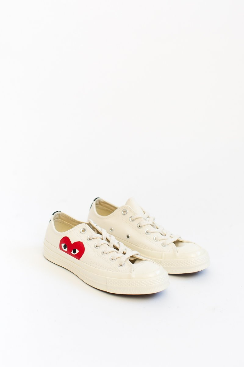 Comme Des Garcons PLAY Converse Low Top Chuck Taylors