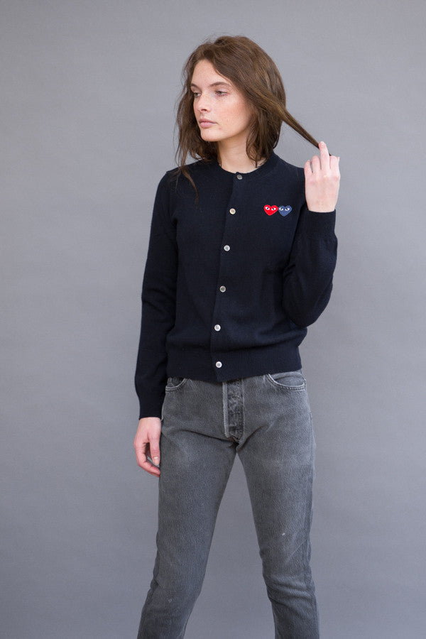 Comme des Garçons PLAY Crew Cardi with Double Heart