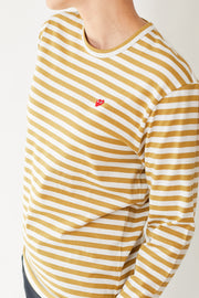 Comme des Garçons PLAY Striped Tee Shirt Mini Red Heart