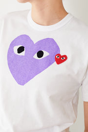 Comme des Garçons PLAY Tee Shirt Heart w/ Small Red Heart