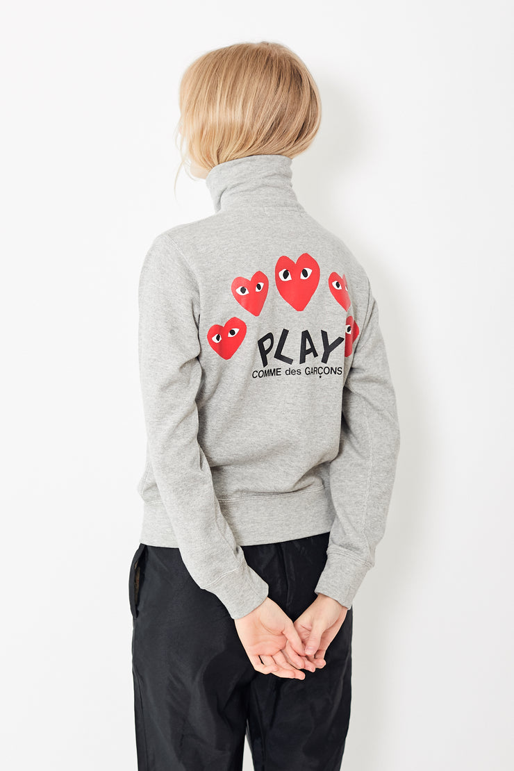 Comme des Garçons PLAY Zip Up Sweatshirt w/ Red Heart