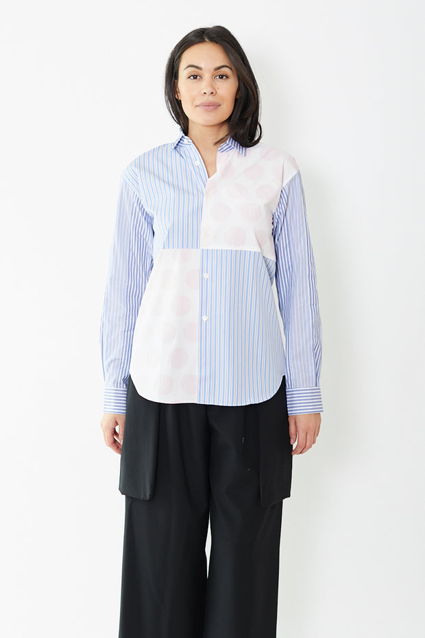 Comme des Garçons SHIRT Cotton Poplin Stripe Combination with Dot Print