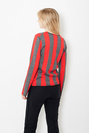 Comme des Garçons SHIRT Wool Fully Fashion Striped Crew Neck Sweater