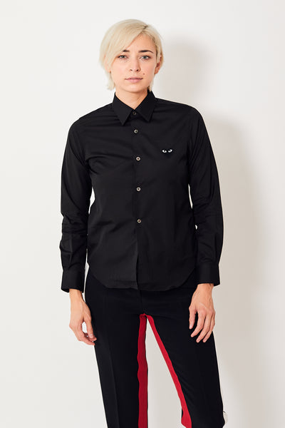 Comme des Garçons PLAY Button Down Shirt w/Black Heart