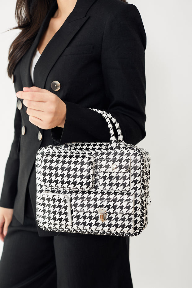 Comme des Garcons Small Houndstooth Bag