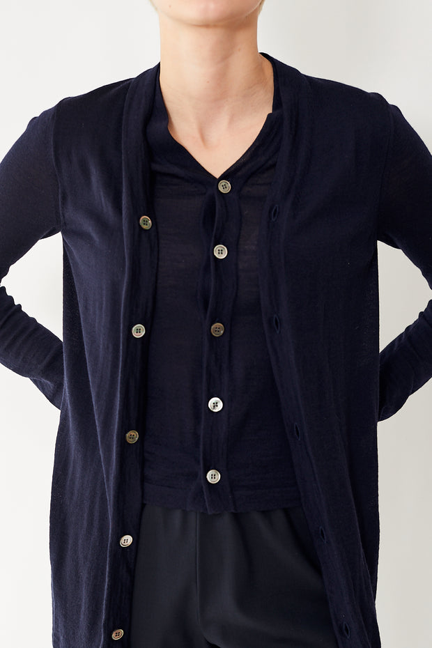 Comme des Garçons Worsted Wool Double Layer Cardigan