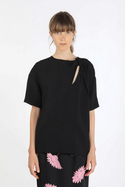 N°21 Knotted Cutout Blouse