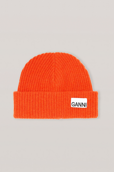 Ganni Recycled Wool Knit Hat