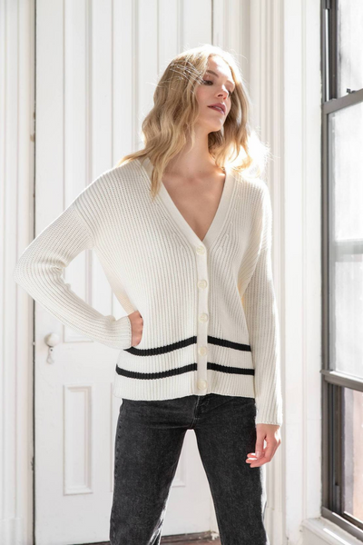 Lilla P Button Cardigan Sweater