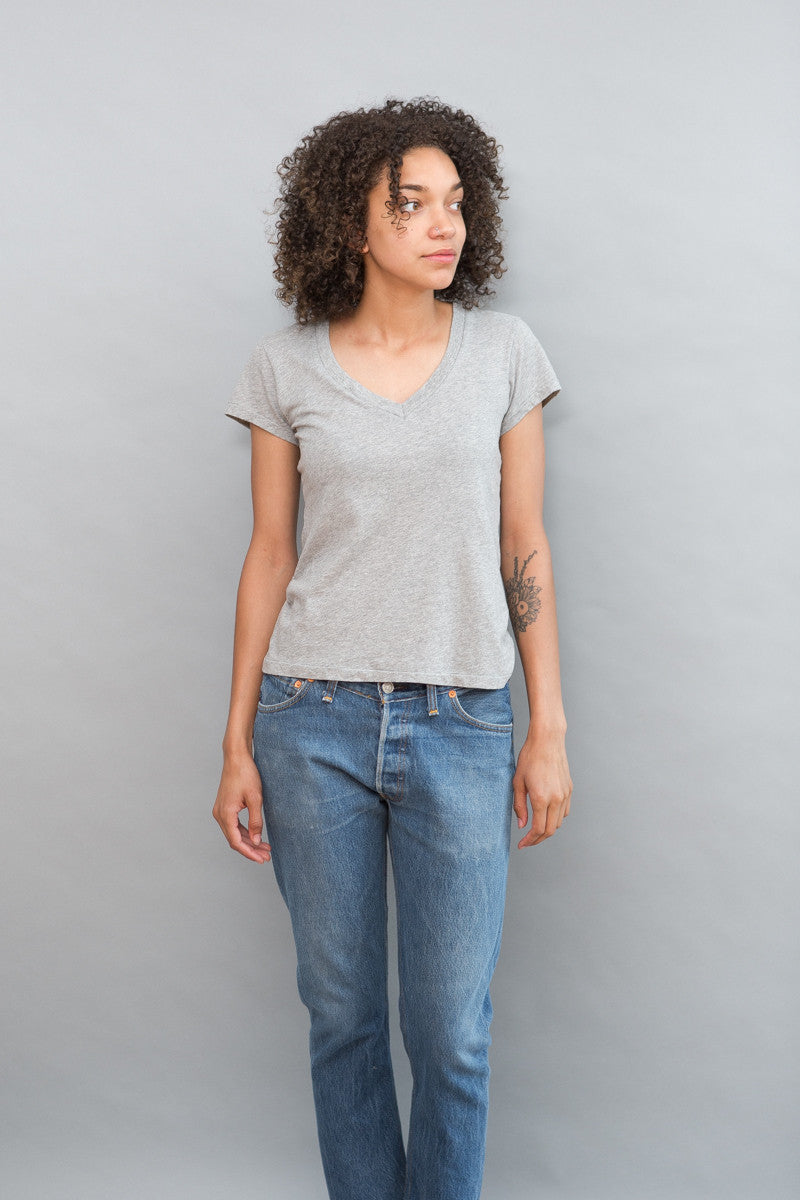 RE/DONE 1960s Slim V Neck Tee - grethen house