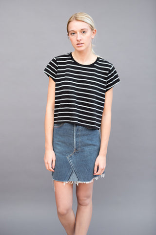 RE/DONE Boxy Striped Tee