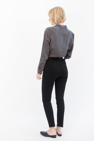 RE/DONE High Rise Ankle Crop Stretch