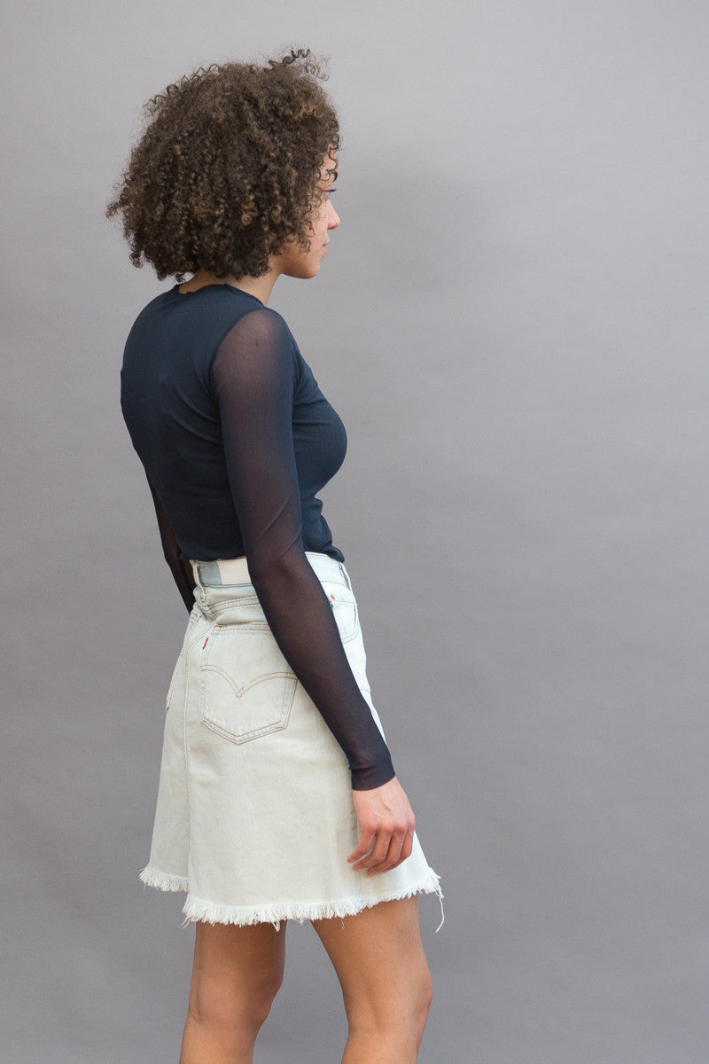 RE/DONE High Rise Skirt