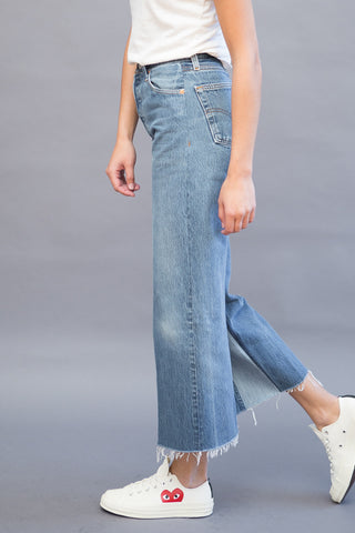 RE/DONE High Rise Wide Leg