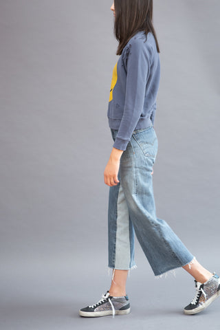 RE/DONE Wide Leg Denim Patch