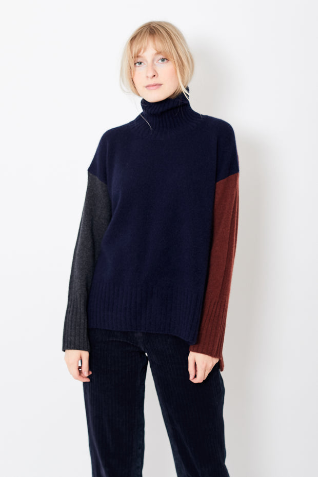 Démoo Color Block Knit Pullover