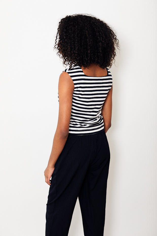 Demylee Kiana Stripe Top White/Navy