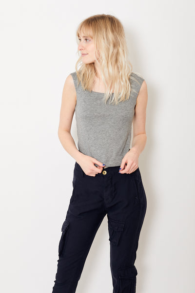 Demylee Kiana Top Heather Grey