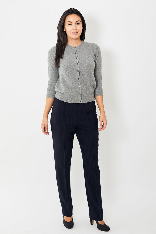 Dorothee Schumacher Distinctive Stripes Slim High Waisted Pants