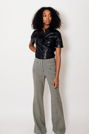 Dorothee Schumacher Minimal Vichy Slim Fit Pants