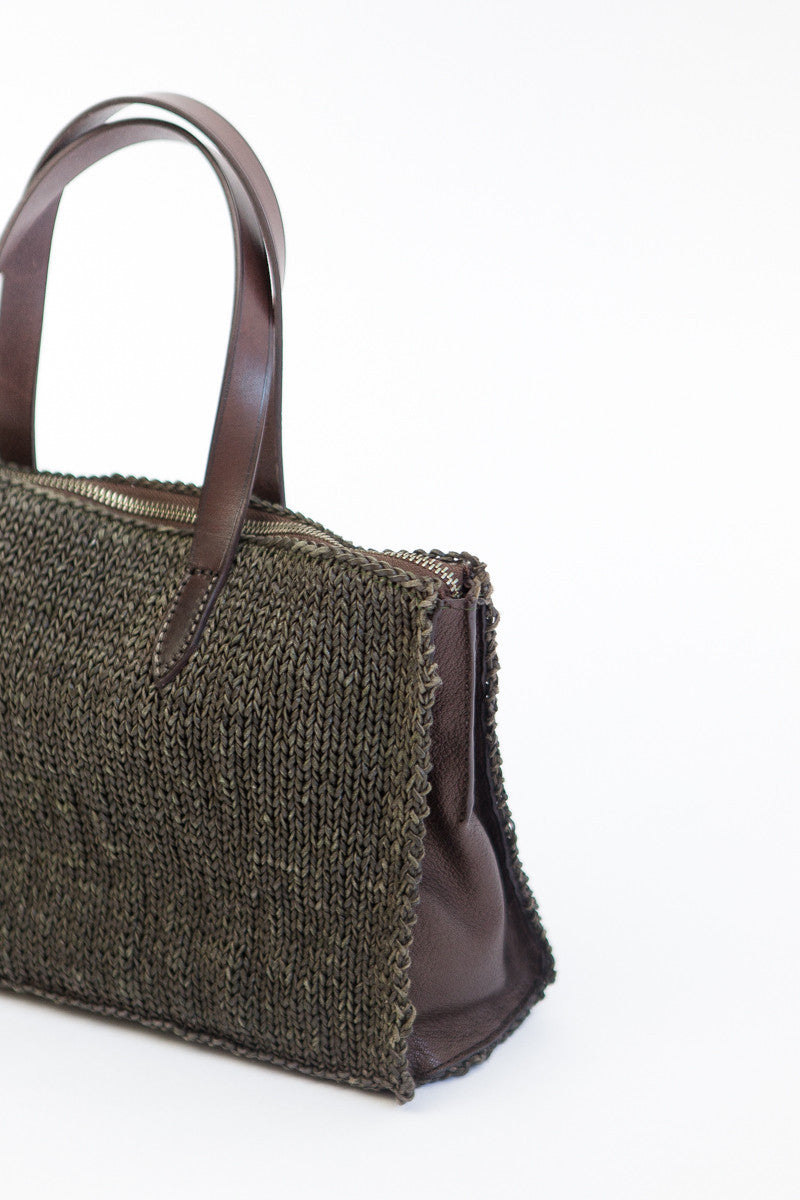 Dragon Woven Leather PLB Bag