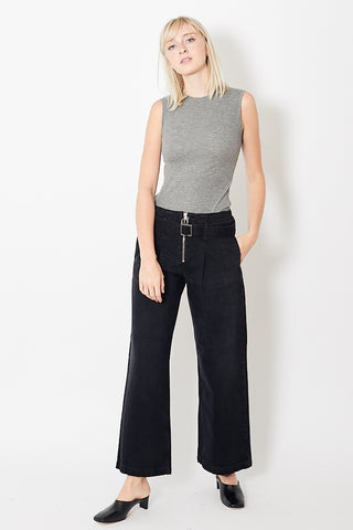 Eight Dreams Belted Wide Leg Jeans