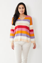 Eleven Six Cara Stripe Sweater