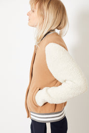 Eleventy Bomber with Knit Sleeves