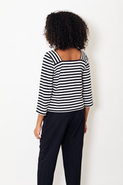 DemyLee Elliotte Stripe Top White/Navy