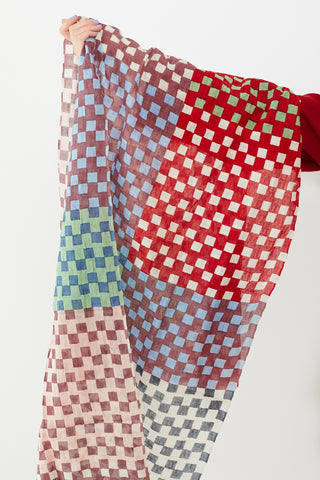 Epice Checker Scarf Berries