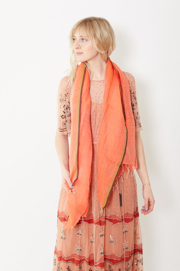 Epice Classic Scarf with Fringe Firework