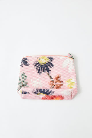 Épice Mesh Floral Makeup Bag