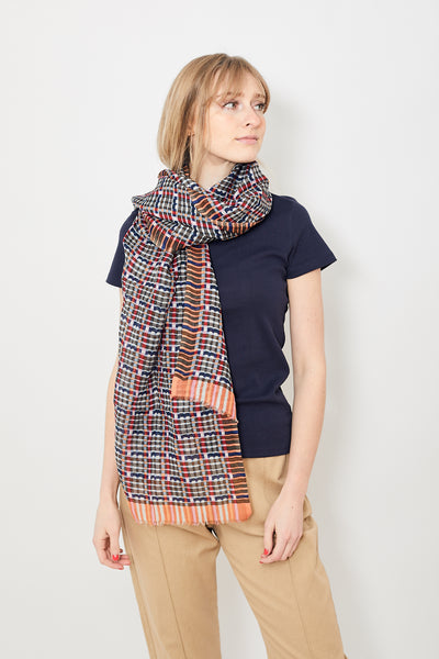 Epice Silk/Cotton Weave Print Stole Anchor