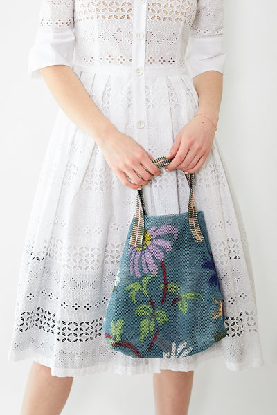 Épice Small Mesh Floral Tote