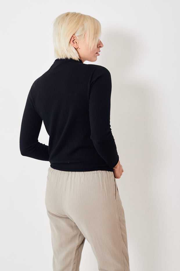 Evam Eva Cotton Cashmere Turtleneck Pullover