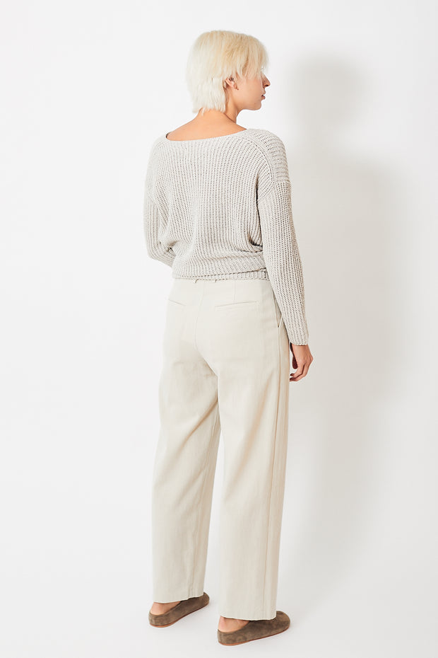 Evam Eva Cotton Tuck Wide Pants