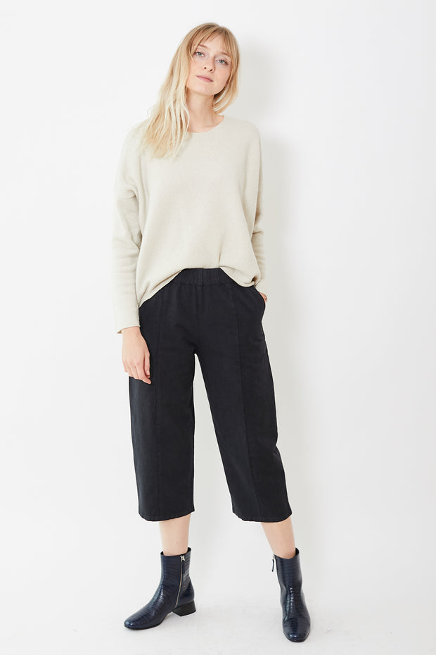 Evam Eva Cotton Paper Cropped Pants