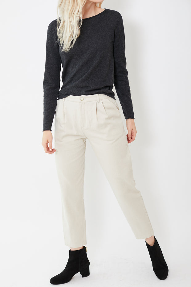 Evam Eva Cotton Tuck Pants