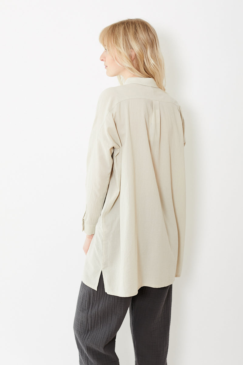 Evam Eva Crepe Cotton Square Shirt Tunic