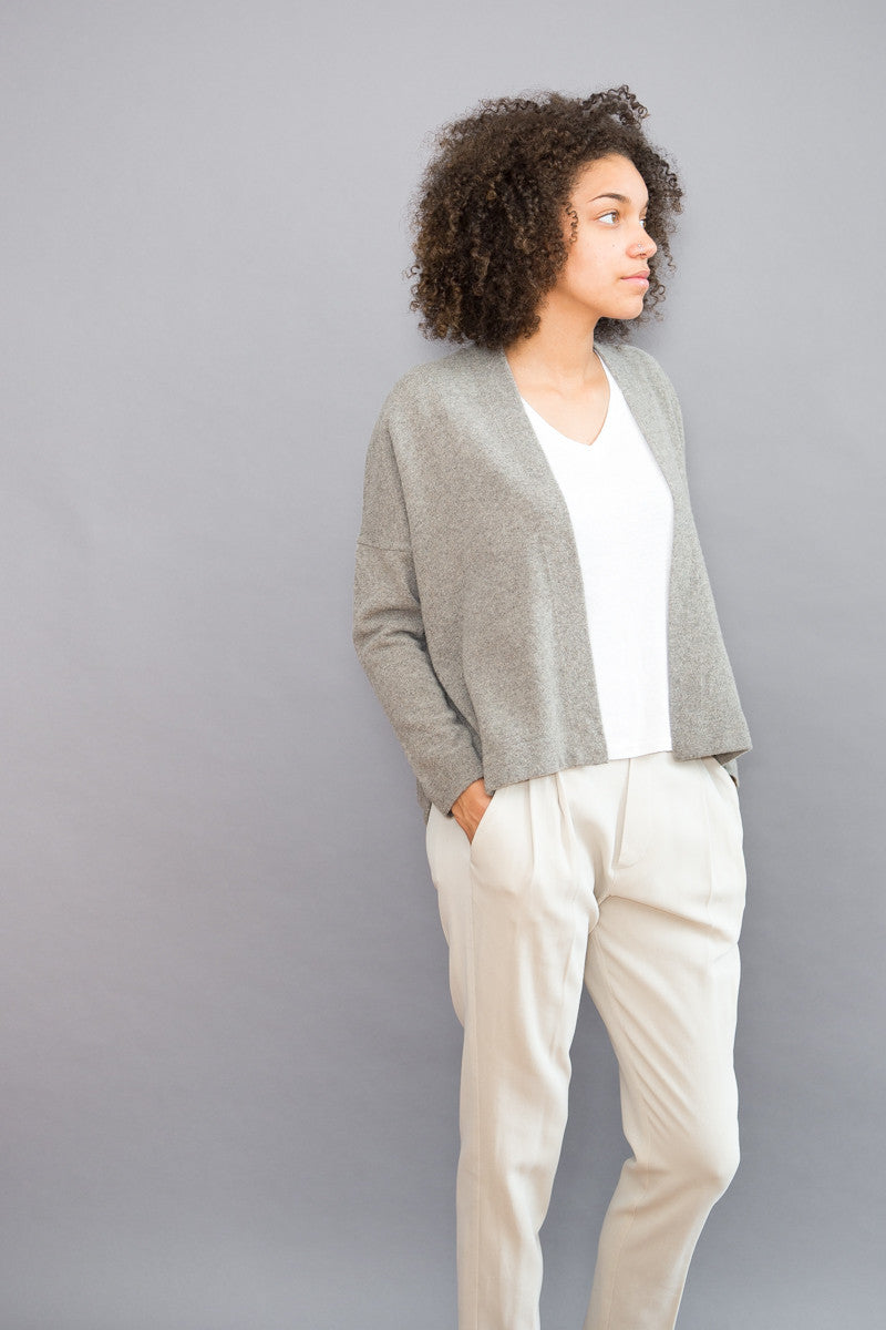Evam Eva Wool Sable Cardigan - grethen house