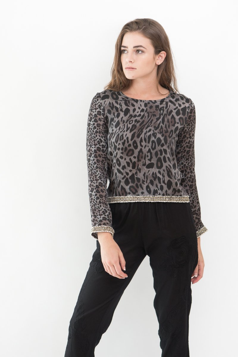 Loyd/Ford Leo Long Sleeve Silk Top