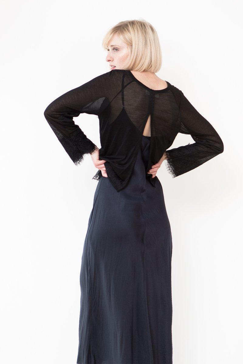Loyd/Ford Raglan Sleeve Top with Lace