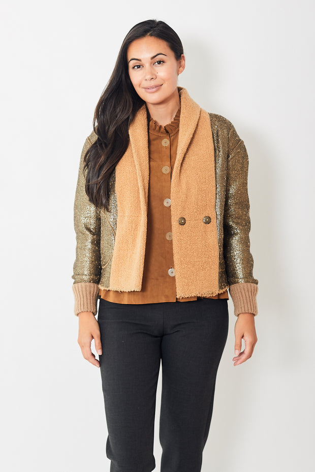 Forte Forte Reversible Wool Lurex Boucle Bomber Jacket