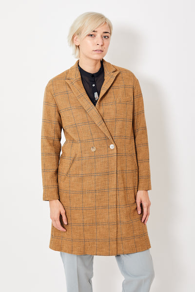 Forte Forte Wool Cotton Glen Check Coat