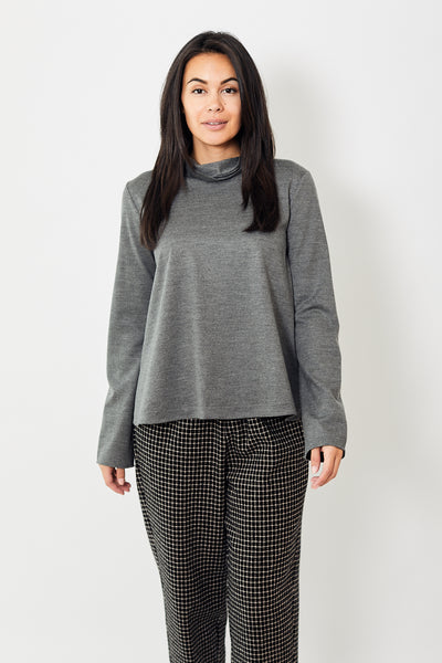 Forte Forte Chic Flannel Turtle Neck Top